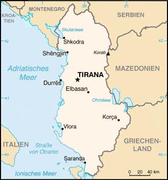 Albanie Atlas