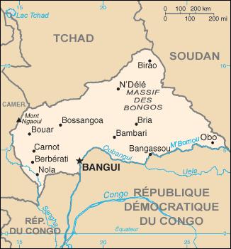 République centrafricaine Atlas
