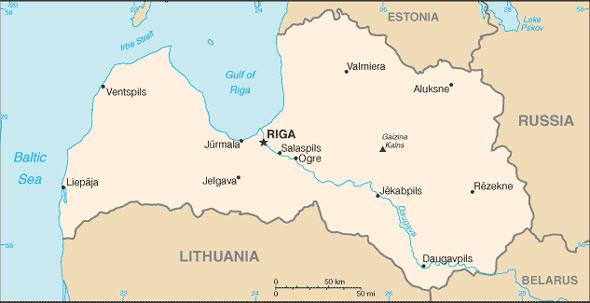 Lettonie Atlas