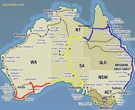 Carte Camping Australie.Sydney Et Histoire De L Australie E Voyageur
